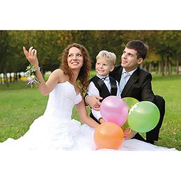 Carte de remerciement mariage Youpi gris tryptique gratuit
