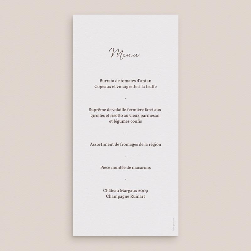 Menu mariage Empreinte Cerisier Rosacé, repas de noces pas cher