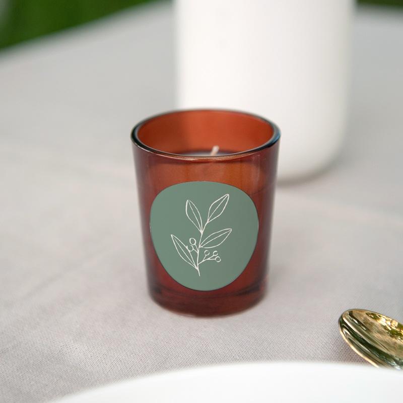 Etiquette enveloppes mariage Brin Romantique, vert gratuit