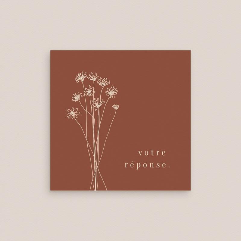 Carton réponse mariage Empreinte de Fleurs sauvages, Rsvp gratuit
