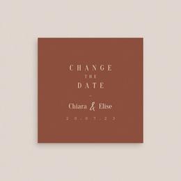 Change the date mariage Empreinte de Fleurs sauvages, 10 x 10 cm gratuit