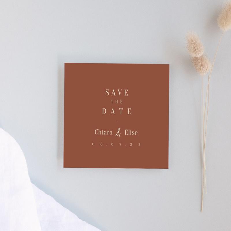 Save-the-date mariage Empreinte de Fleurs sauvages, Jour J