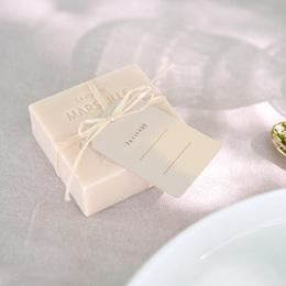 Marque-place mariage Empreinte de Fleurs sauvages, 4 x 6 cm