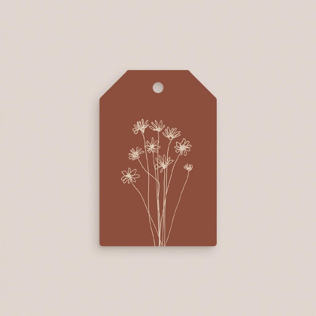 Marque-place mariage Empreinte de Fleurs sauvages, 4 x 6 cm pas cher