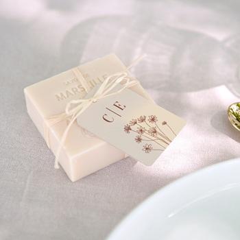 Etiquettes cadeaux mariage Empreinte de Fleurs sauvages, souvenir