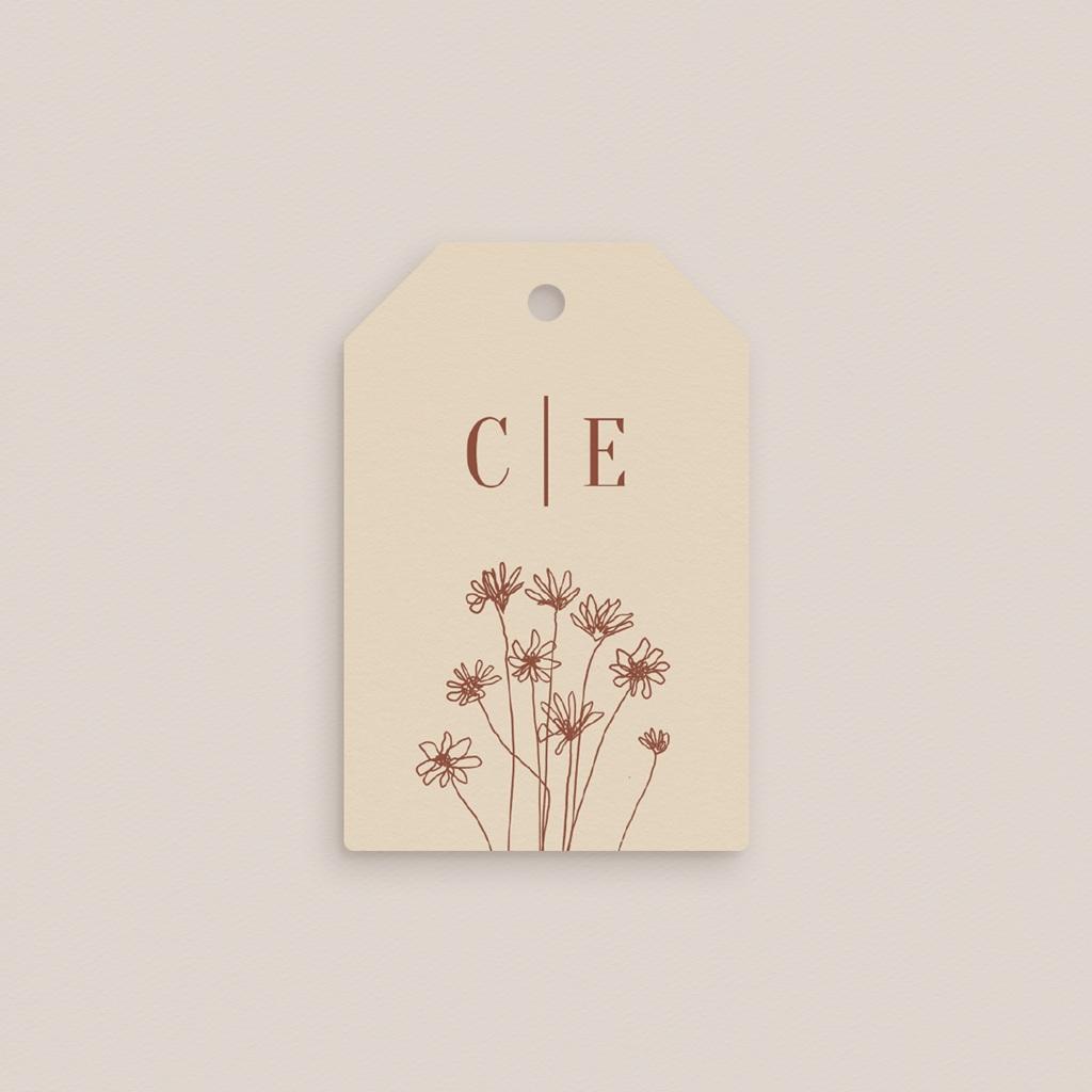 Etiquettes cadeaux mariage Empreinte de Fleurs sauvages, souvenir gratuit