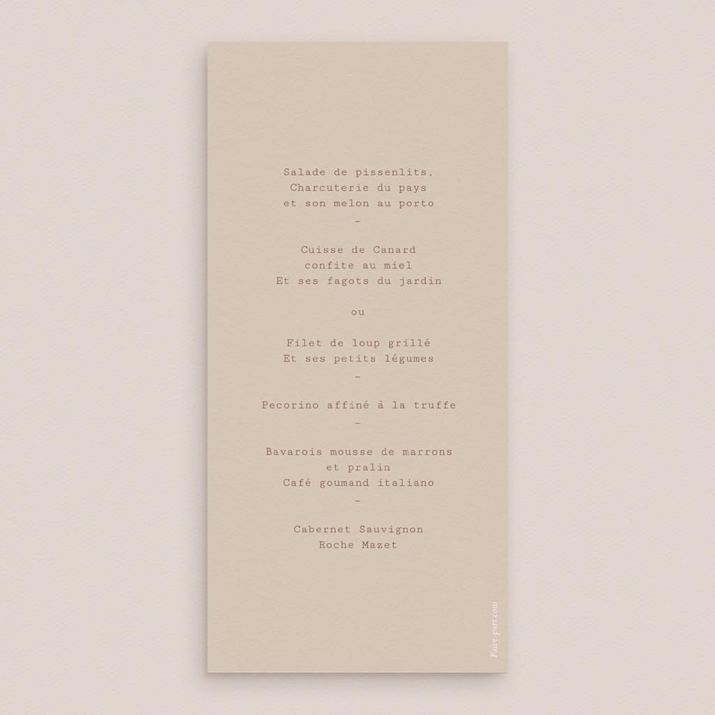 Menu mariage Empreinte de Fleurs sauvages, 10 x 21 cm pas cher