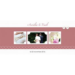 Carte de remerciement mariage Tomette  pas cher