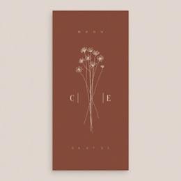 Menu mariage Empreinte de Fleurs sauvages, 10 x 21 cm gratuit