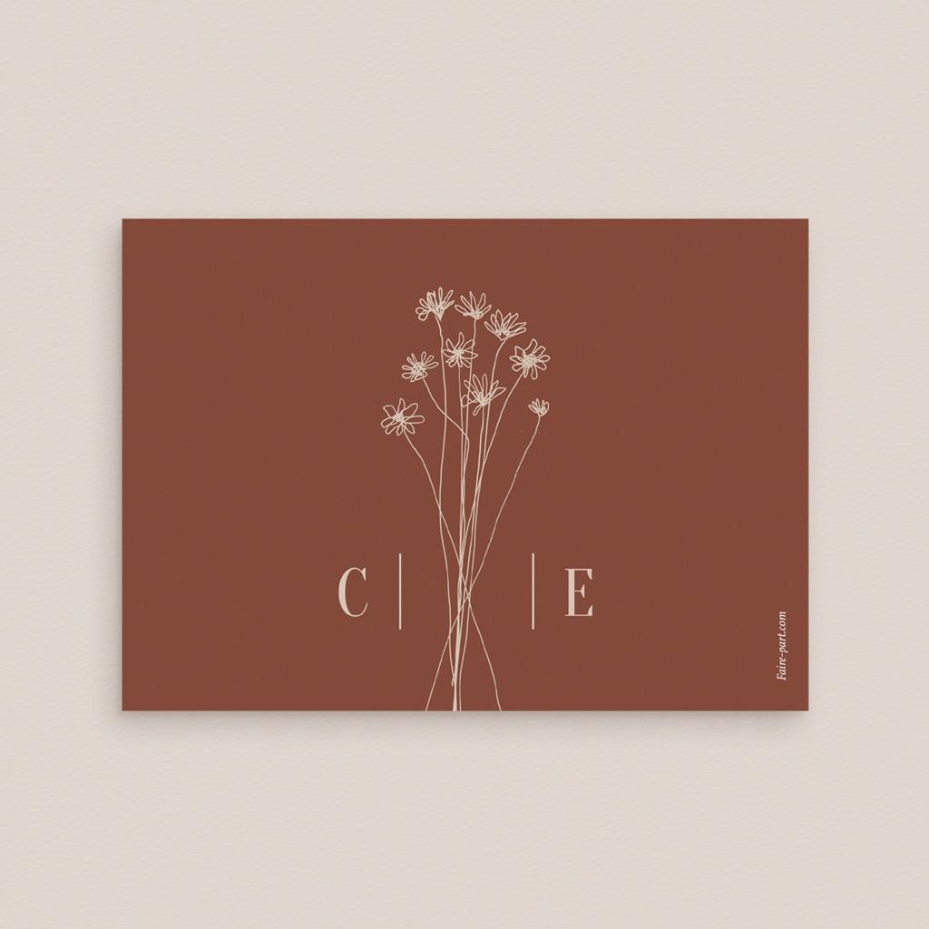 Carte de remerciement mariage Empreinte de Fleurs sauvages, Merci pas cher