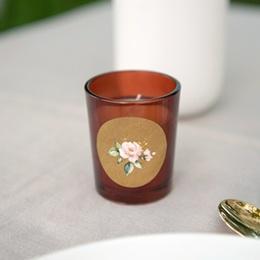 Etiquette enveloppes mariage Kraft et Rose, 4,5 cm gratuit