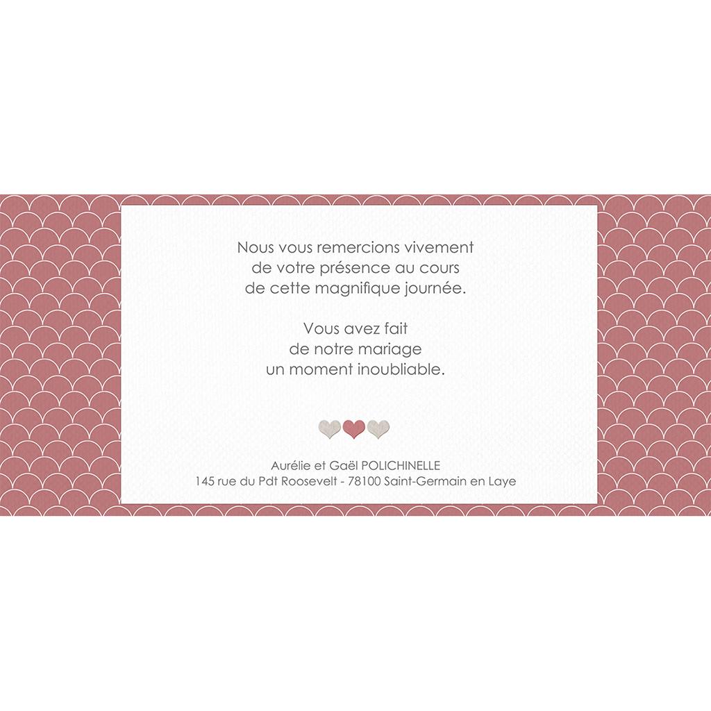 Carte de remerciement mariage Tomette  gratuit