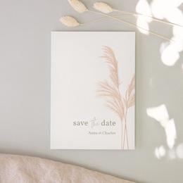 Save-the-date mariage Fleurs de Pampa, Jour J