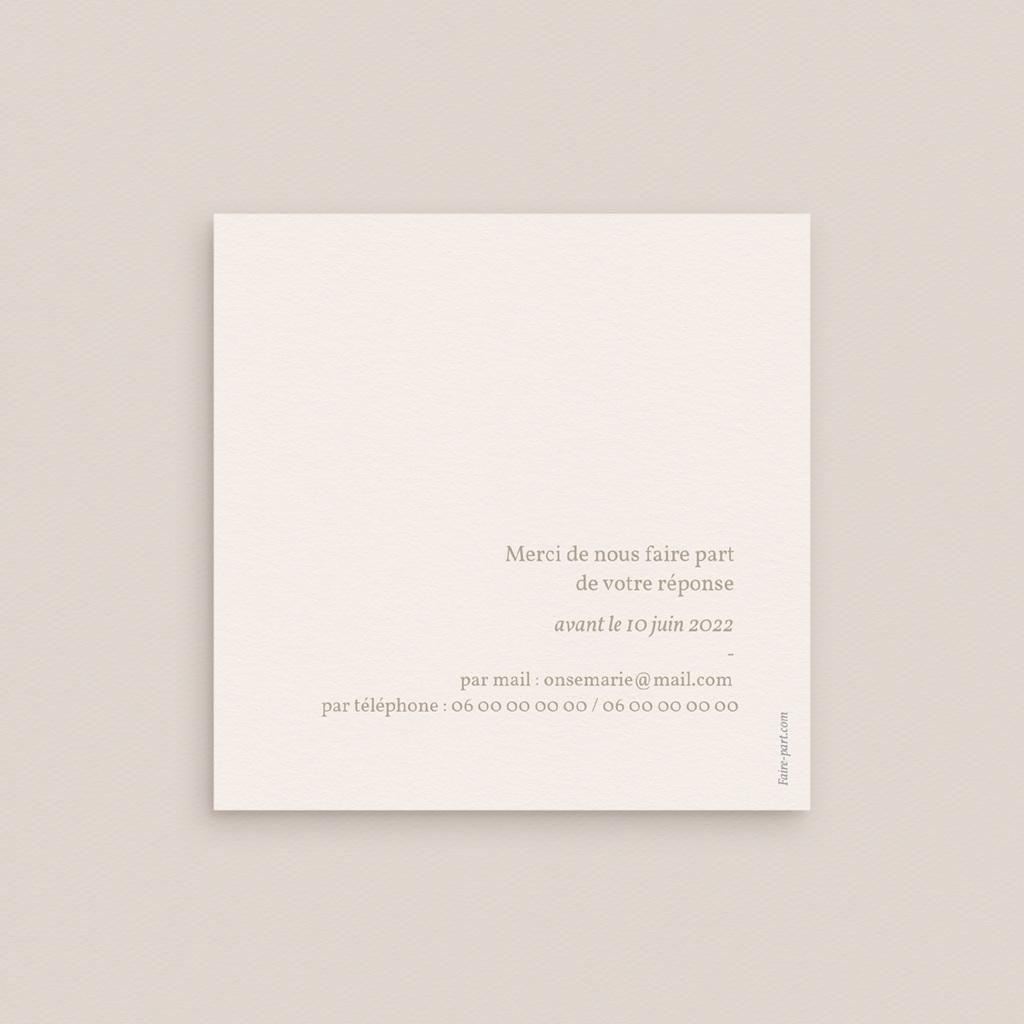 Carton réponse mariage Fleurs de Pampa, Rsvp pas cher