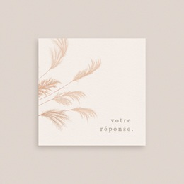 Carton réponse mariage Fleurs de Pampa, Rsvp gratuit