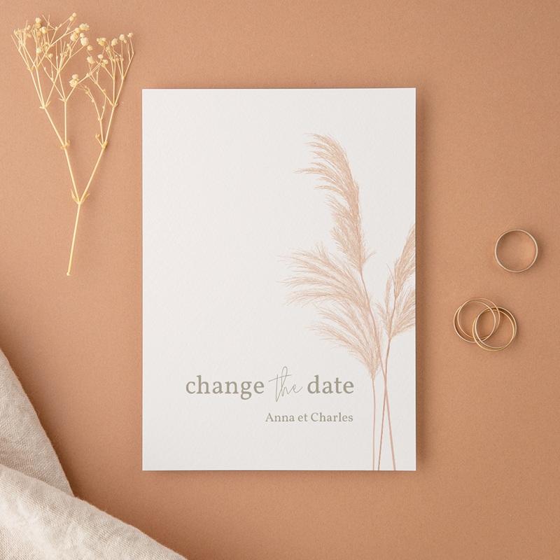 Change the date mariage Fleurs de Pampa, New date