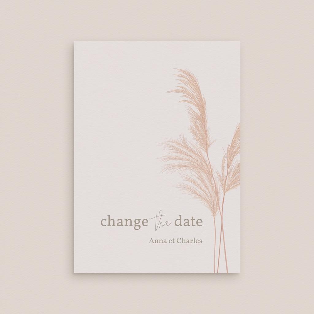 Change the date mariage Fleurs de Pampa, New date gratuit