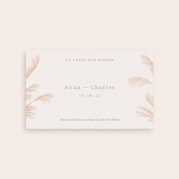 Etiquette bouteille mariage Fleurs de Pampa, Orientation horizontale pas cher