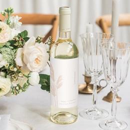 Etiquette bouteille mariage Fleurs de Pampa, Orientation Verticale