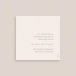 Carte d'invitation mariage Fleurs de Pampa, 10 x 10 cm pas cher