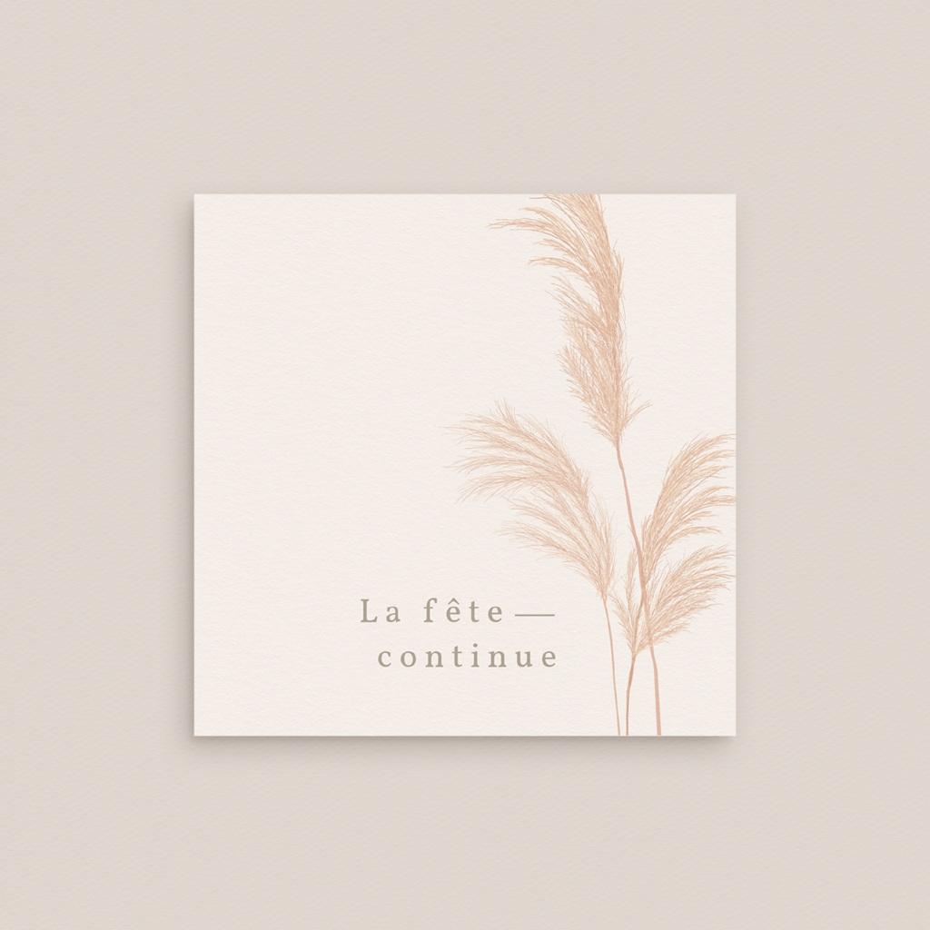 Carte d'invitation mariage Fleurs de Pampa, 10 x 10 cm gratuit