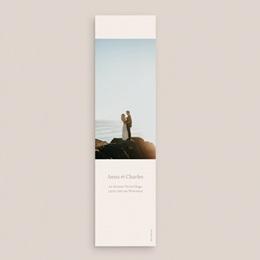Carte de remerciement mariage Fleurs de Pampa, 5,5 x 21 cm pas cher