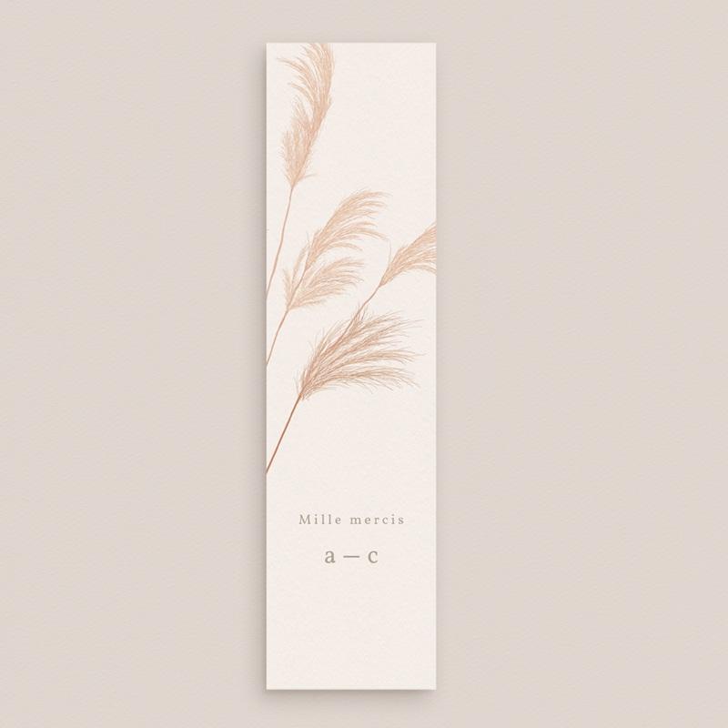 Carte de remerciement mariage Fleurs de Pampa, 5,5 x 21 cm gratuit