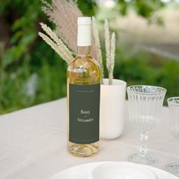 Etiquette bouteille mariage Typo & Couleur, Eau ou vin