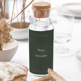 Etiquette bouteille mariage Typo & Couleur, Eau ou vin gratuit