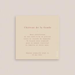 Carte d'invitation mariage Empreinte de Fleurs sauvages, brunch pas cher