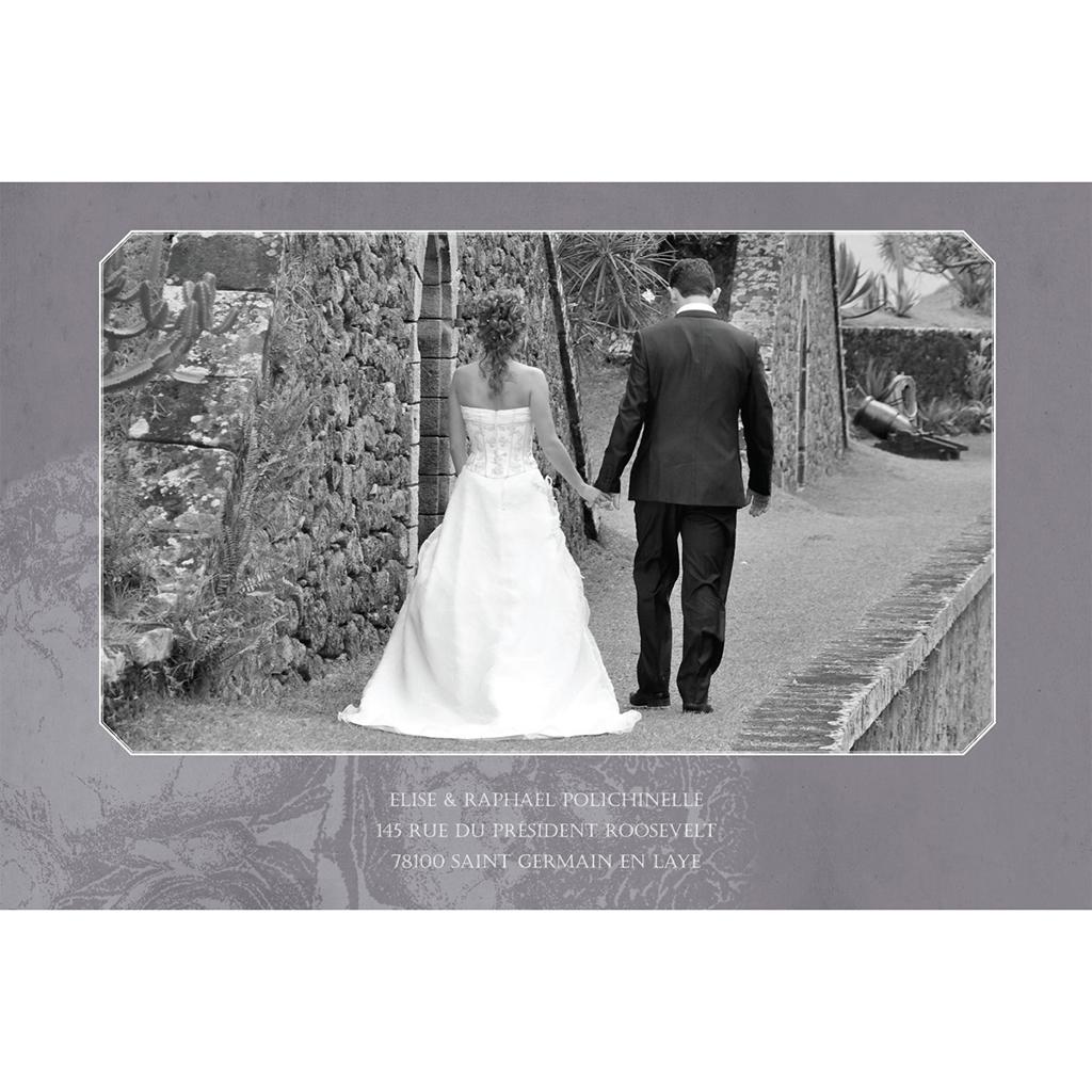 Carte de remerciement mariage Pivoines  gratuit