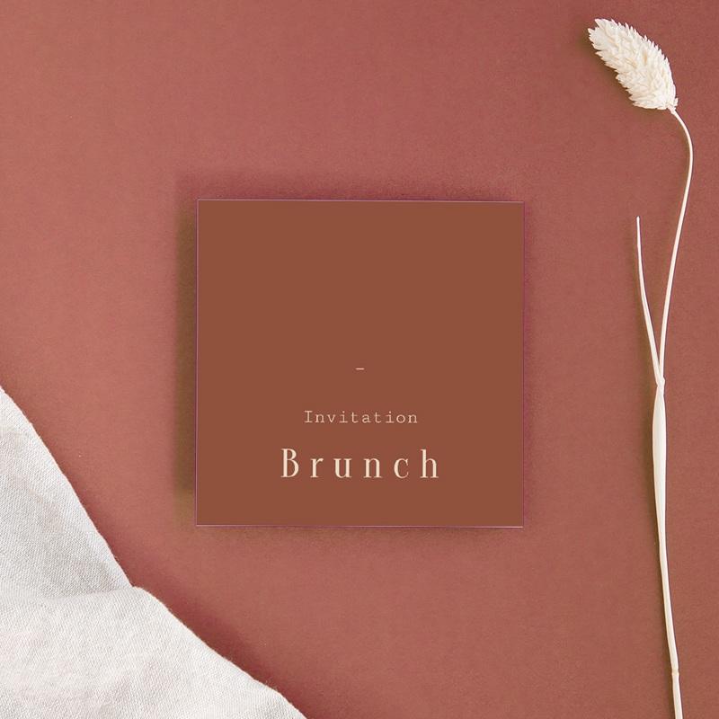 Carte d'invitation mariage Empreinte de Fleurs sauvages, brunch