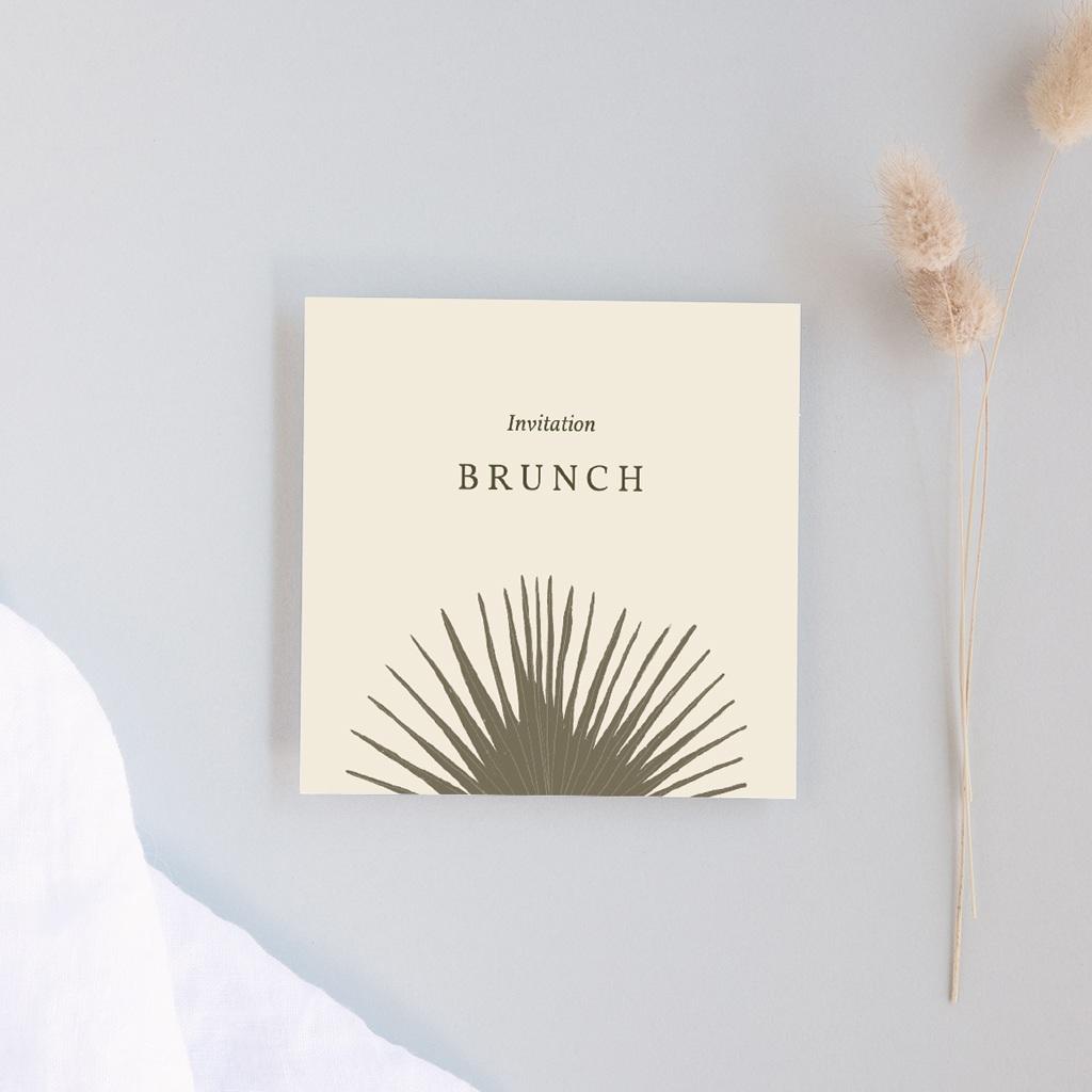 Carte d'invitation mariage Palme Bohème
