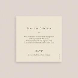 Carte d'invitation mariage Palme Bohème pas cher