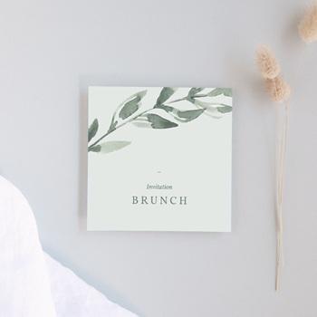Carte d'invitation mariage Encadrement floral, brunch
