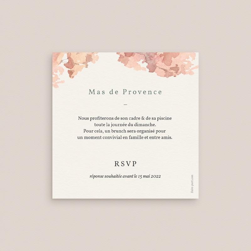 Carte d'invitation mariage Encadrement floral, brunch pas cher
