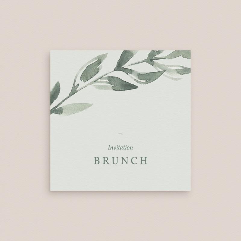 Carte d'invitation mariage Encadrement floral, brunch gratuit