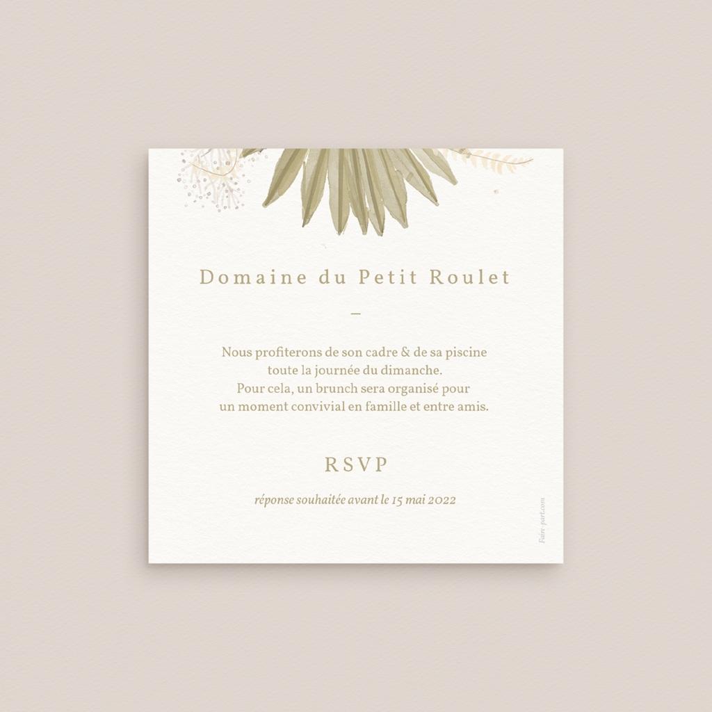 Carte d'invitation mariage Arche boho, végétal, Brunch pas cher