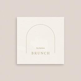Carte d'invitation mariage Arche boho, végétal, Brunch gratuit