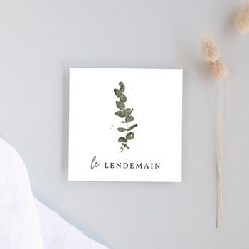 Carte d'invitation mariage Eucalyptus Herbarium, Brunch