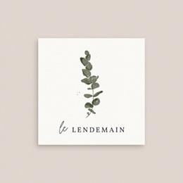 Carte d'invitation mariage Eucalyptus Herbarium, Brunch gratuit