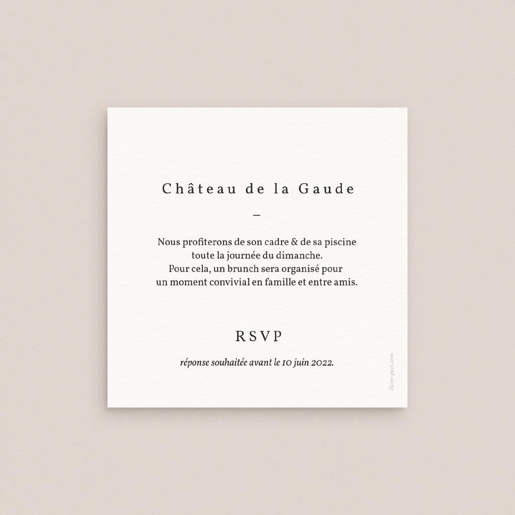 Carte d'invitation mariage Fougères Herbarium, Brunch pas cher
