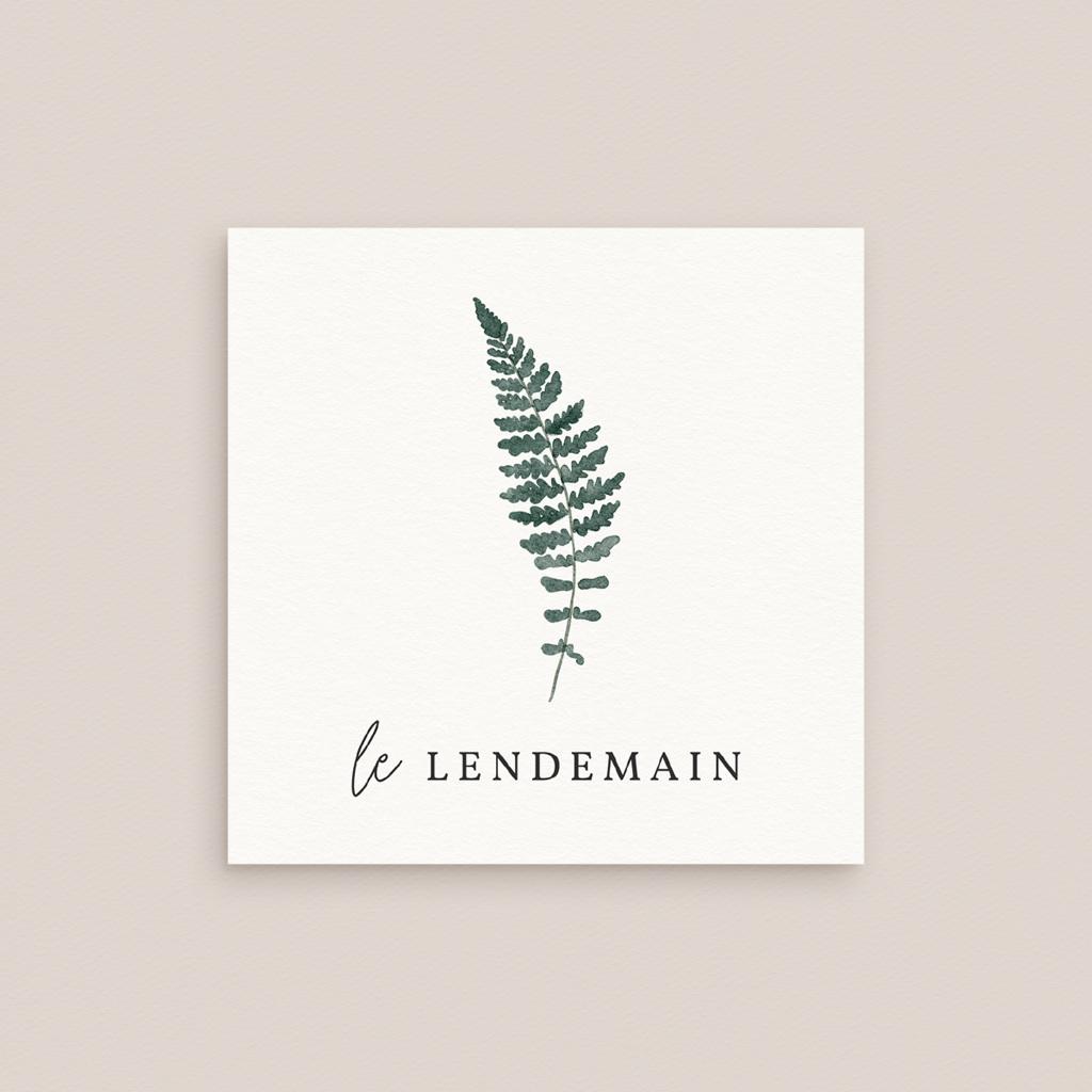 Carte d'invitation mariage Fougères Herbarium, Brunch gratuit