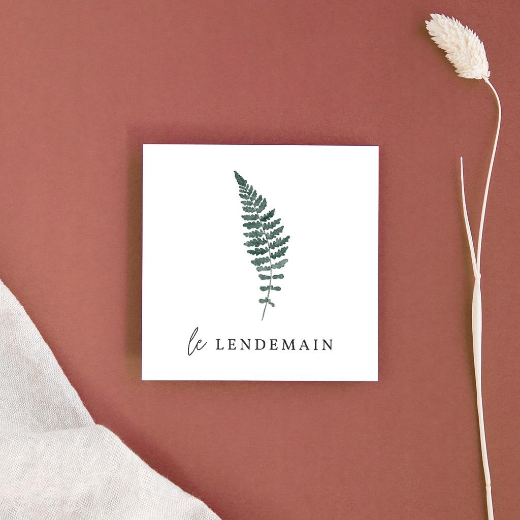 Carte d'invitation mariage Fougères Herbarium, Brunch
