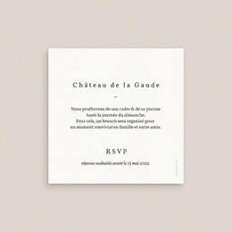 Carte d'invitation mariage Olivier Herbarium, Brunch pas cher