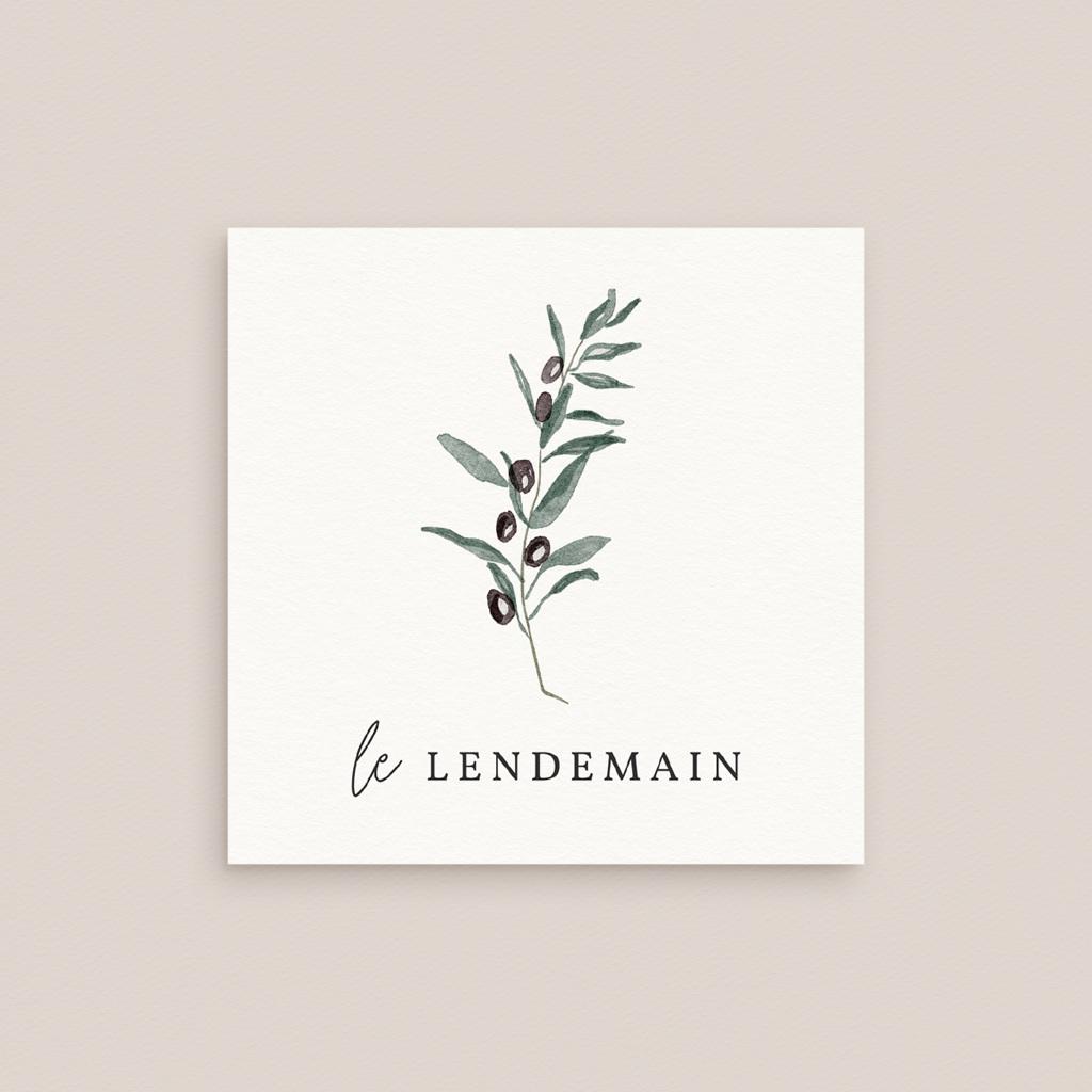 Carte d'invitation mariage Olivier Herbarium, Brunch gratuit