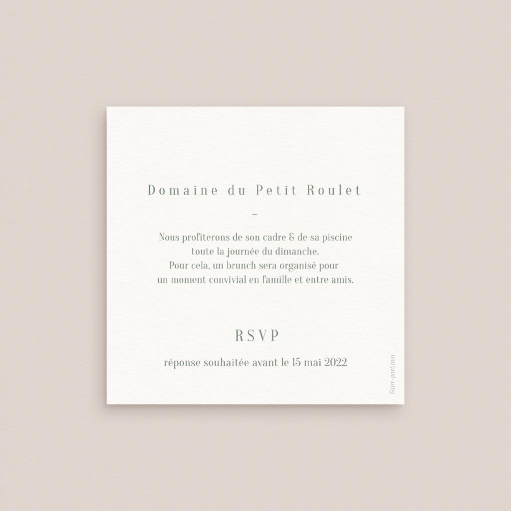 Carte d'invitation mariage Monnaie du Pape & Gypsophile, Brunch pas cher