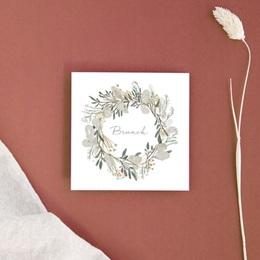 Carte d'invitation mariage Monnaie du Pape & Gypsophile, Brunch