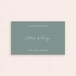 Etiquette bouteille mariage Pastel de Fleurs & Feuillage, 13 x 8 cm pas cher
