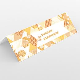 Marque-place mariage Origami jaune
